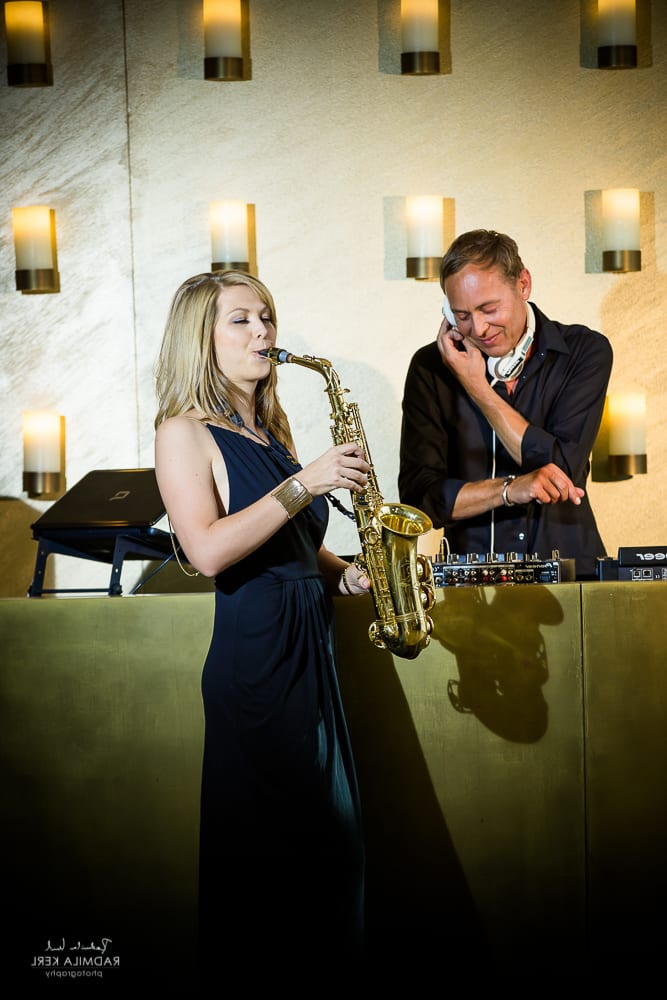DJ Plus Saxophon Monika Ciernia