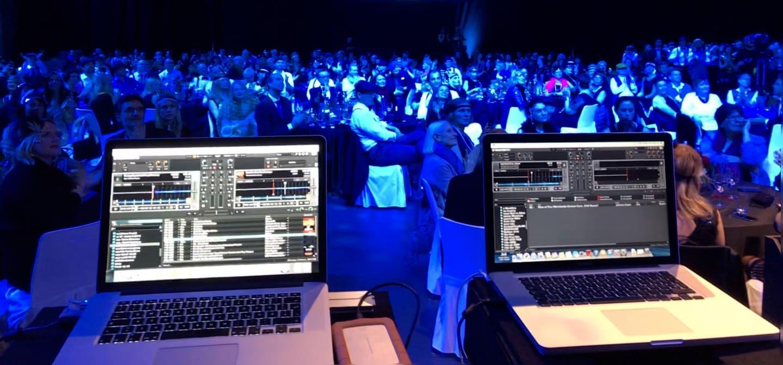 Firmenevent live auf der Bühne