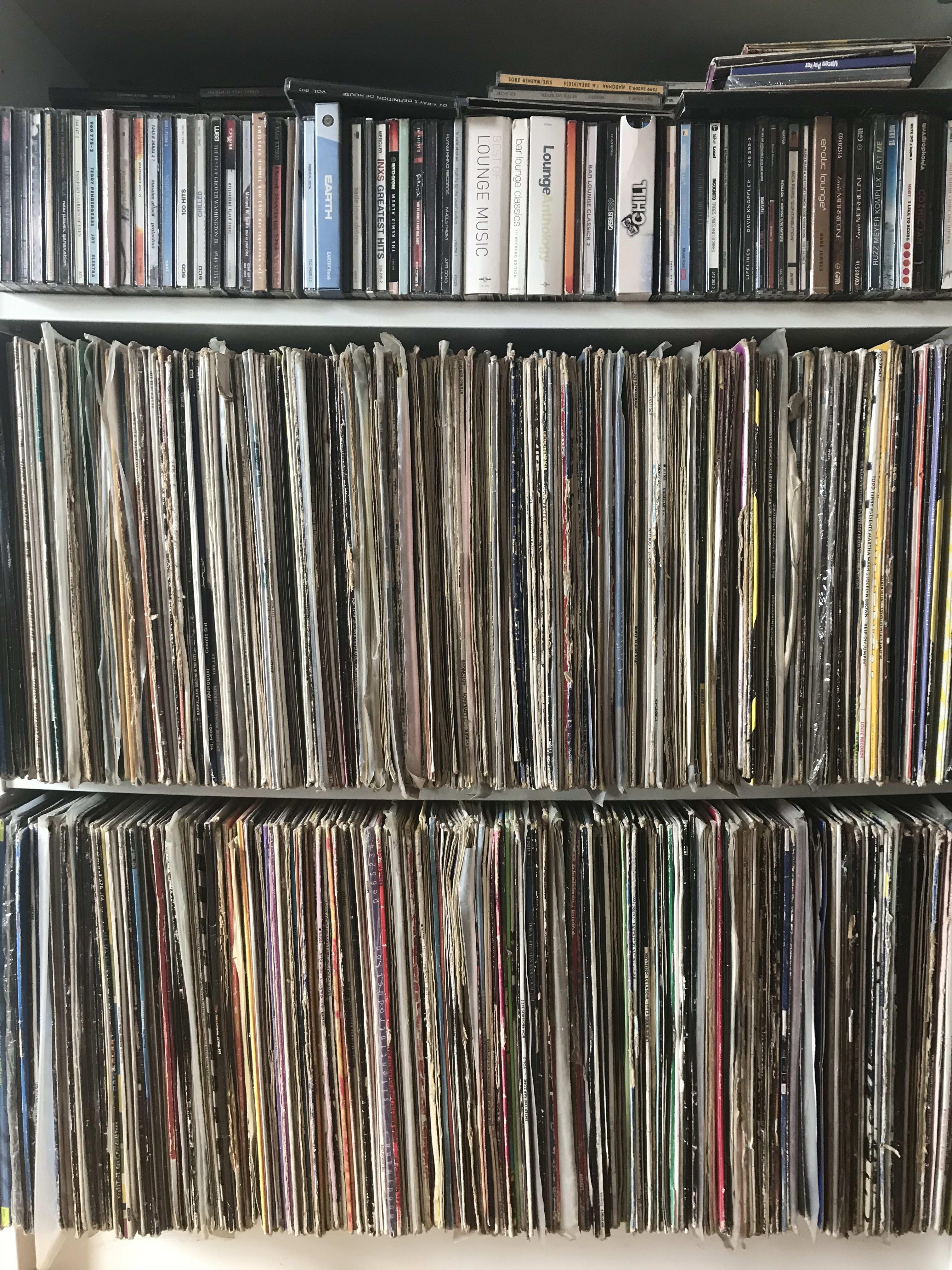 Plattensammlung von DJ Mike Lindström