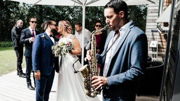 Saxophonist Marc Spieler live auf Hochzeit
